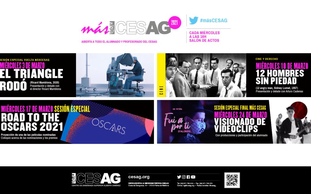 Cuatro películas #másCESAG en marzo